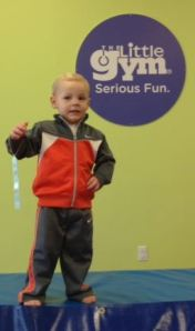 Winning a ribbon for what he does best - jumping, running and tumbling