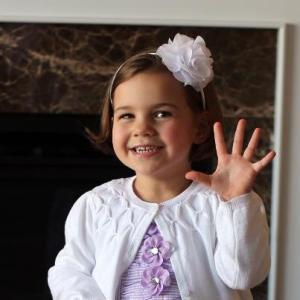 Anna at five