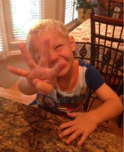 Noah is four